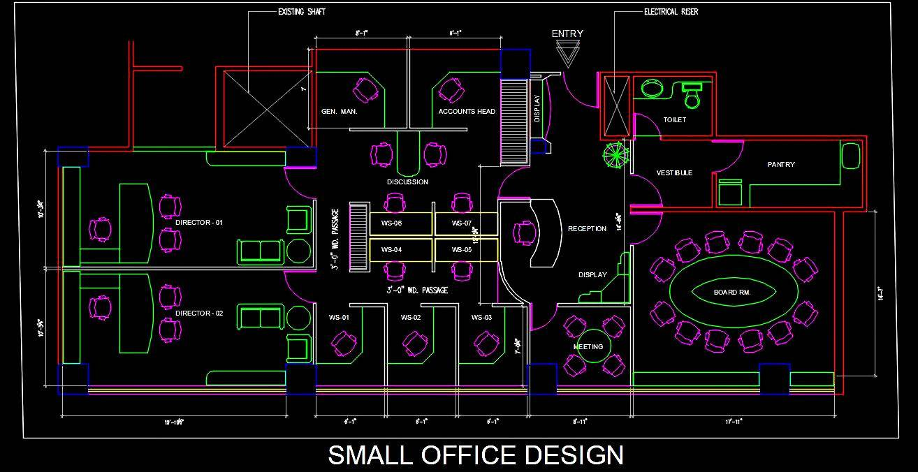 A Small Office Interior Layout Plan