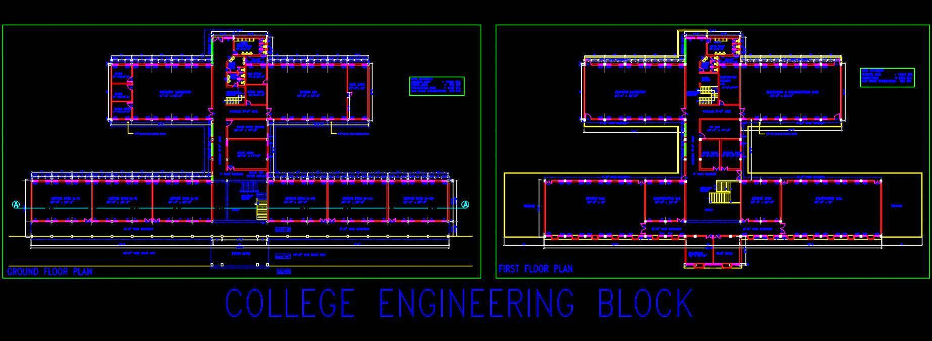 College Engineering Block Design Detail