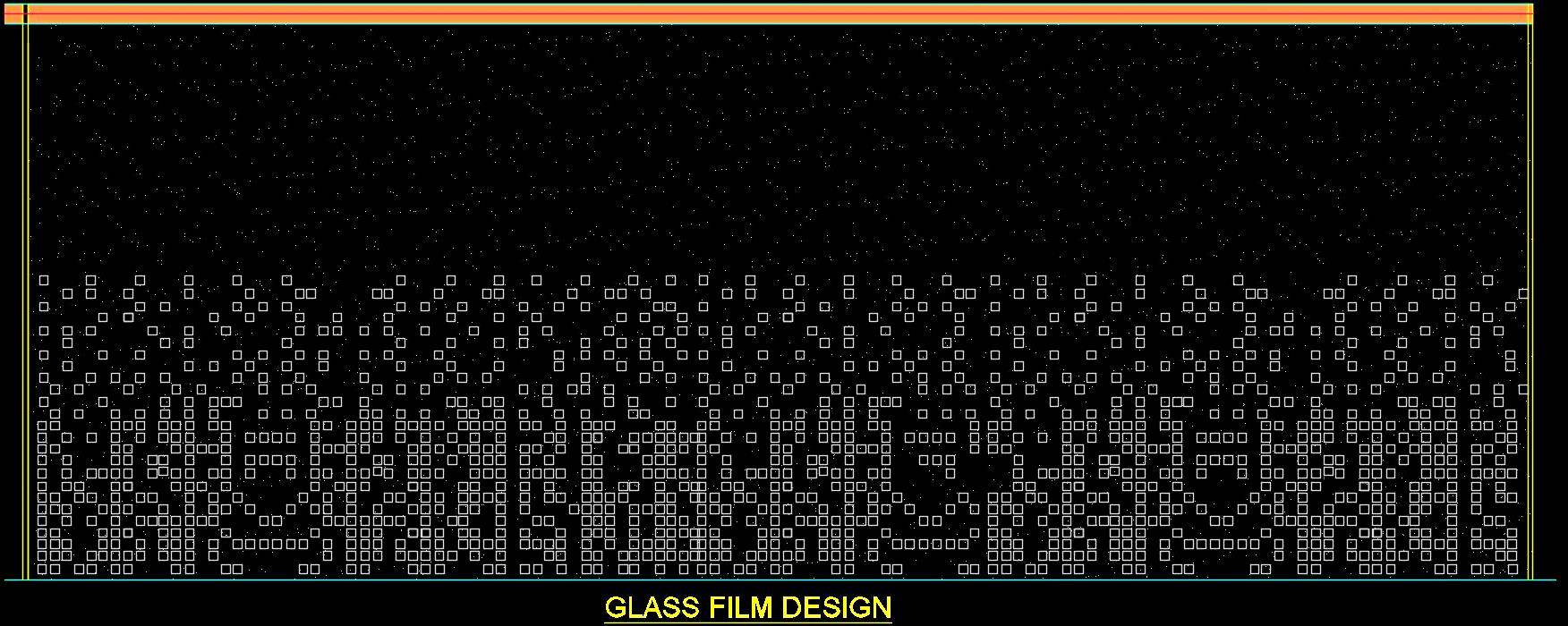 Glass Film Design Cad Drawing