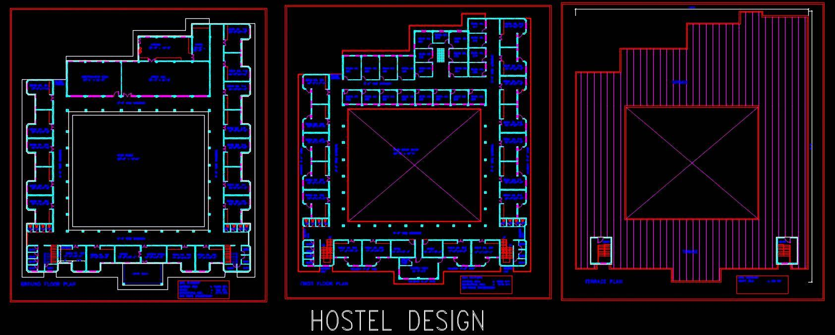 School Hostel Floor Plans Plan N Design