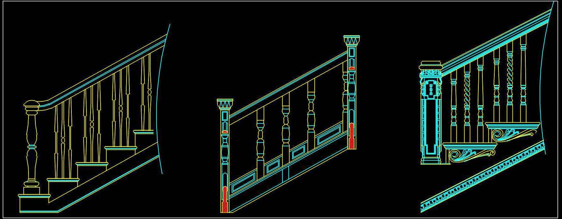 Railing Cad Block Free Download - Autocad DWG | Plan n Design
