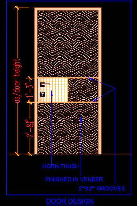 Veneer Design Door Cad Block Free DWG Download