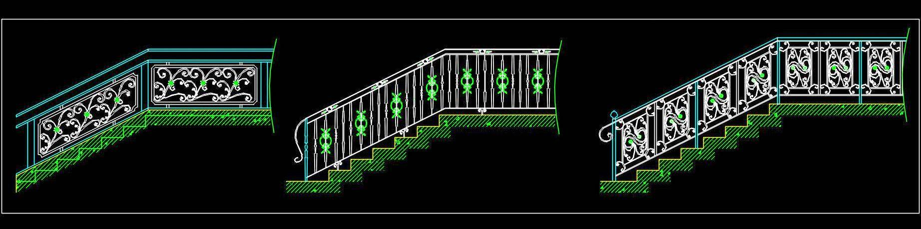 Wrought Iron Railing Cad Block DWG File