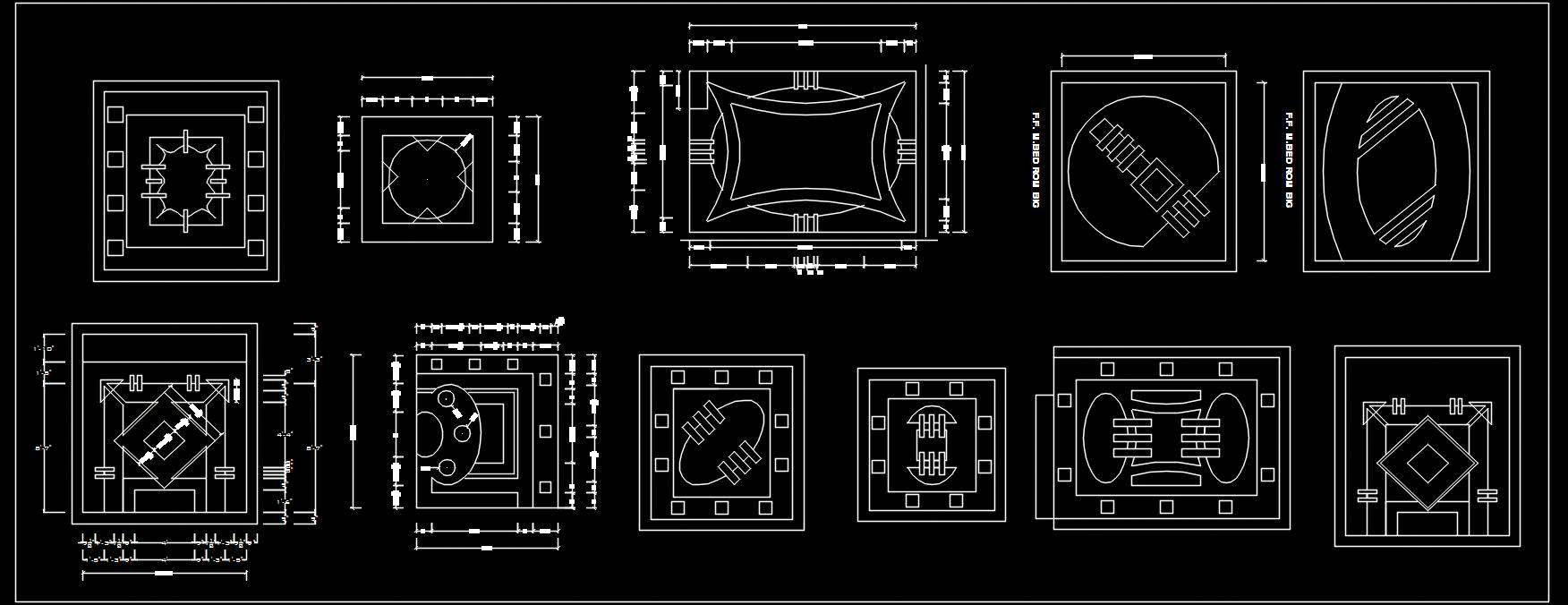 False Ceiling Design Autocad blocks dwg free download ...