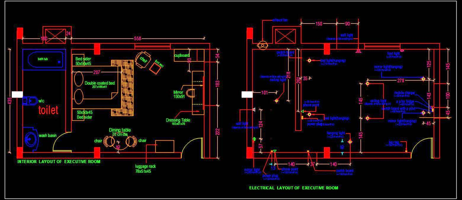 Hotel Guest Room Interior Floor Plan Autocad Drawing Free Download Autocad Dwg Plan N Design