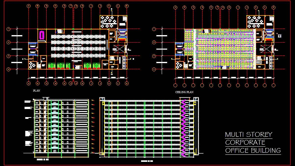 Corporate Office Design DWG Detail