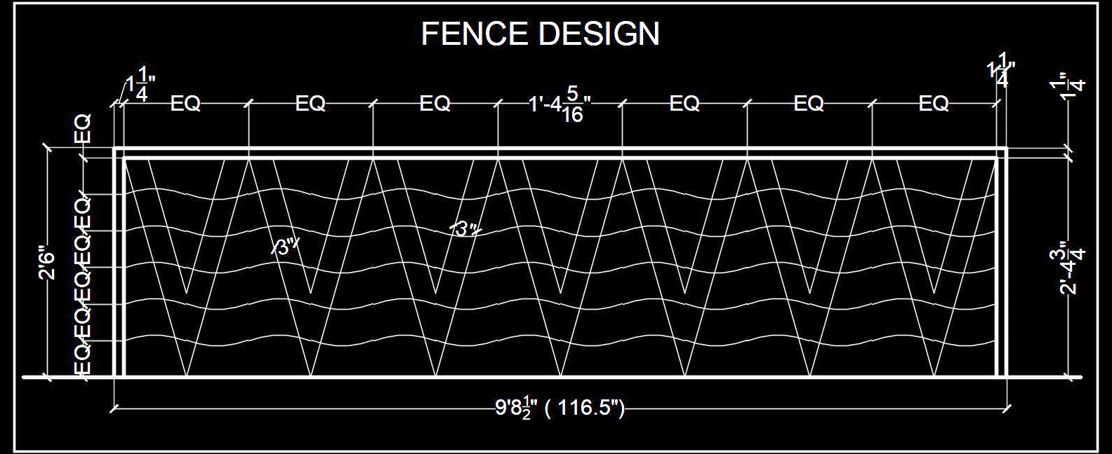 Wrought Iron Fence Cad Block Free Download Autocad Dwg Plan N Design