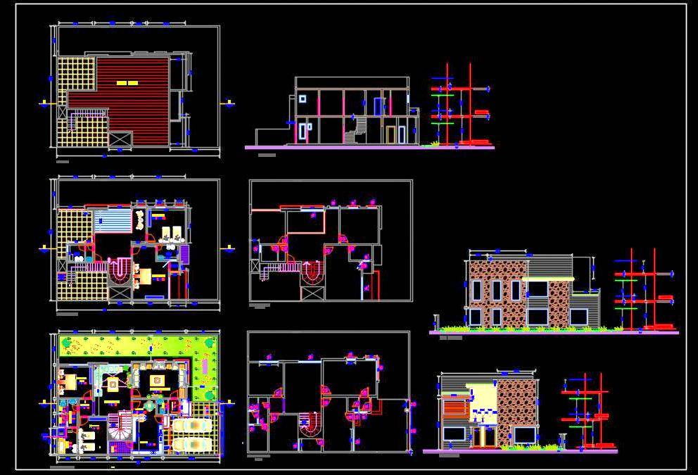 Duplex House (20x15 meter) Autocad House Plan Drawing Download