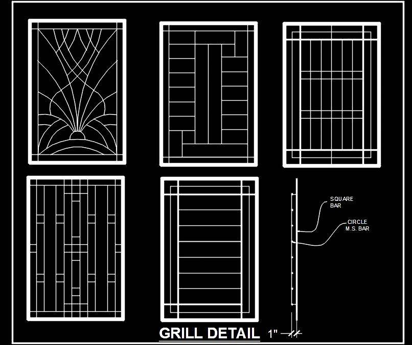 Window Grill Cad Block Free Download Autocad Dwg Plan N Design