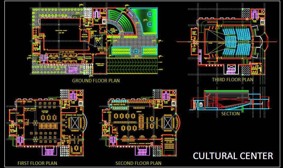 Cultural Center Architectural DWG Details