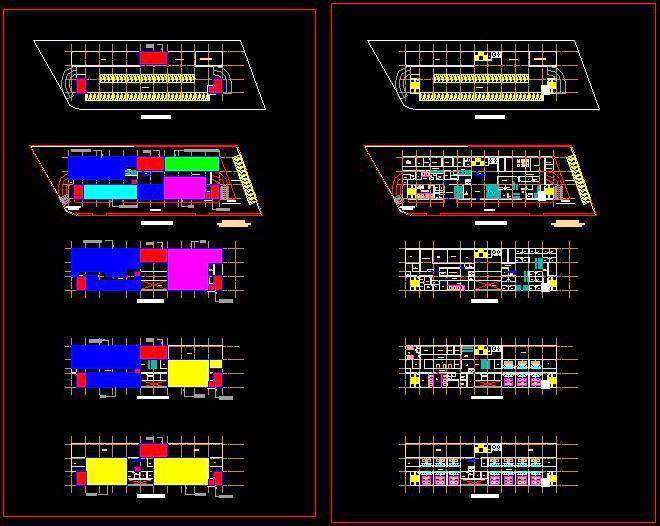 Hospital Building Floor Plans in Cad DWG Drawing