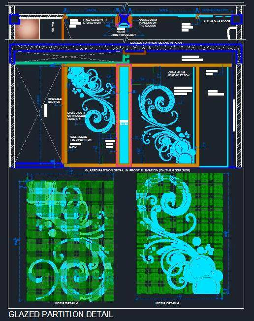 Etched Motif Glass Design