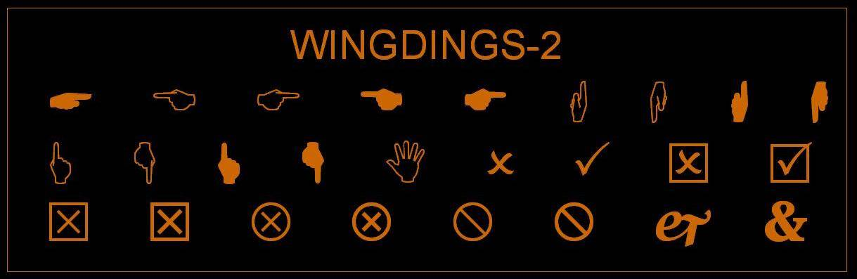 Wingdings-2 Text