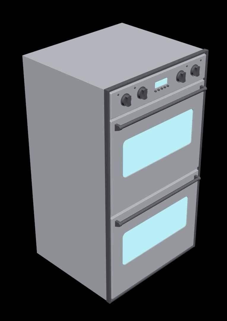 Built in Double Microwave Oven 3d
