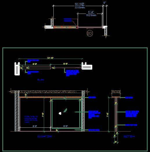 Sliding Door Pocket System Autocad Dwg Plan N Design