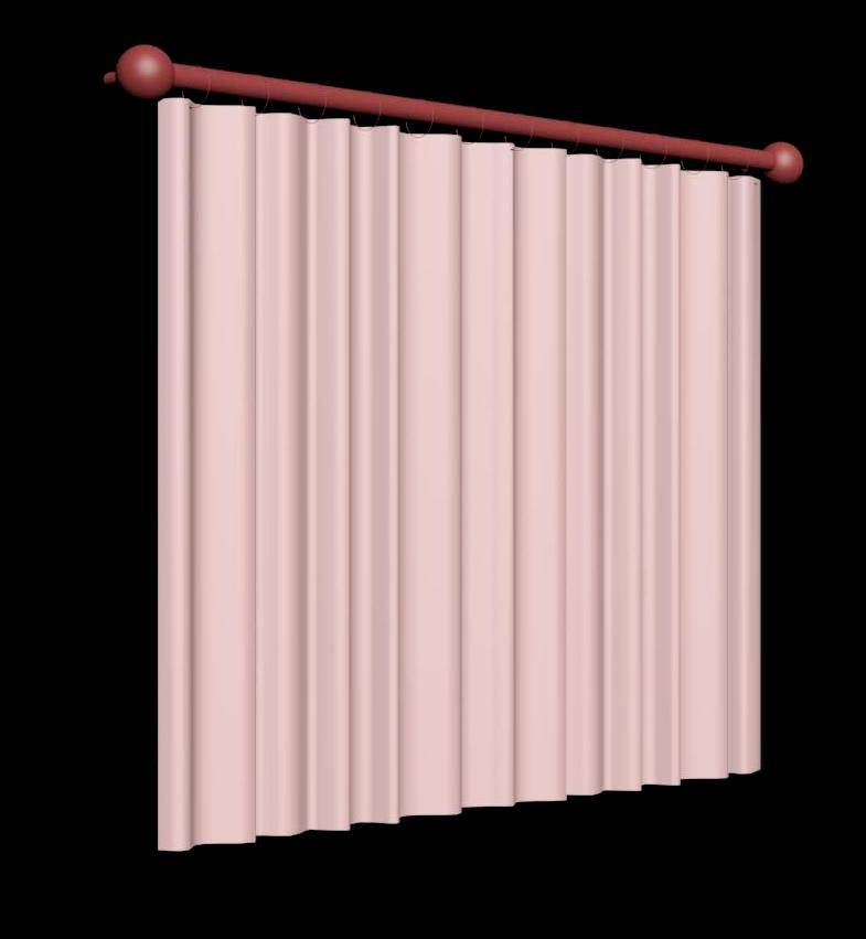 Straight Curtain 3d Model