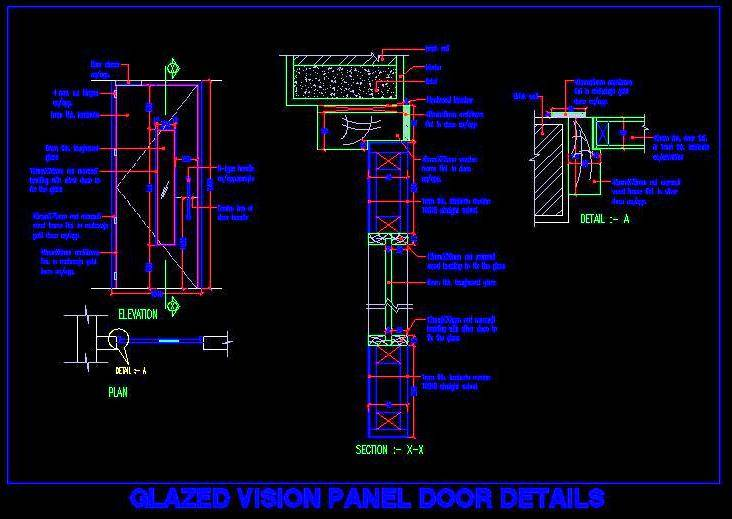 Flush Door with Vision Panel