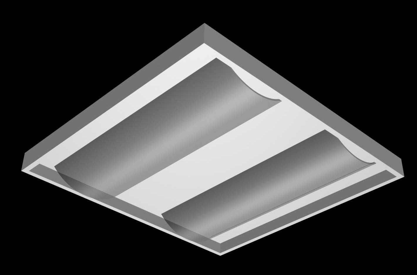 Grid Ceiling Light Fixture 3d Model