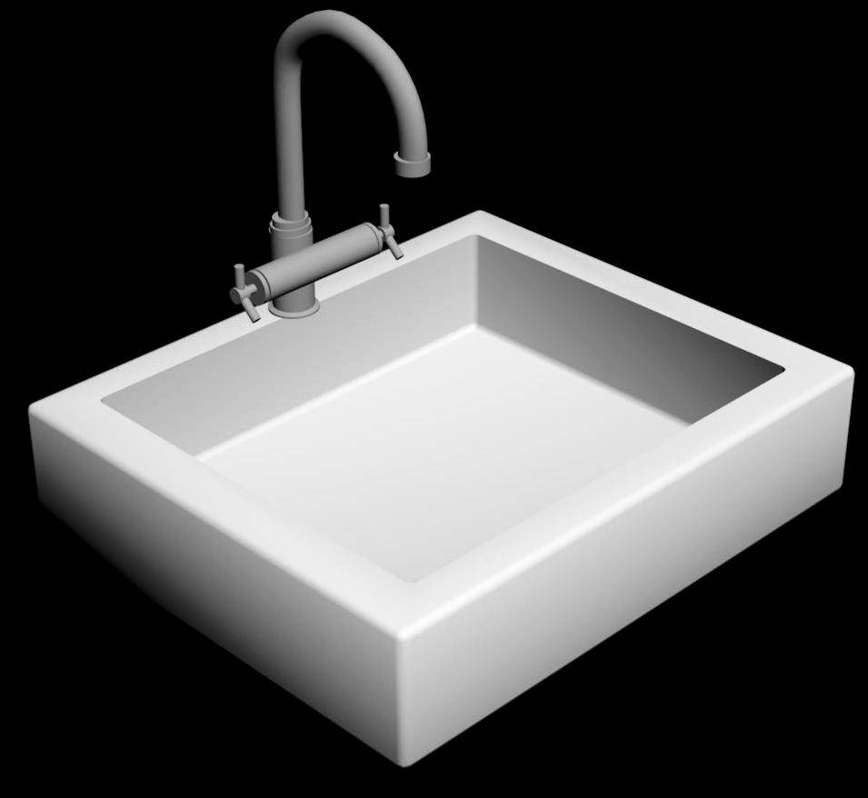 Kitchen Sink 3d view