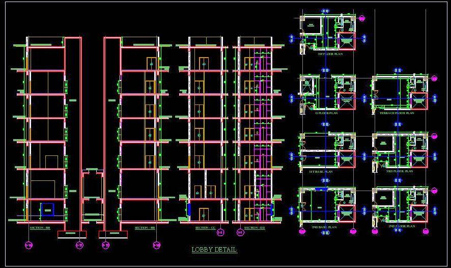 Lift Lobby Design Elevations