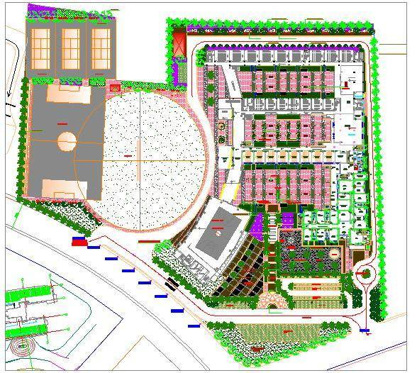 School Master Plan with Landscpae