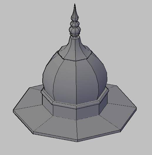 Octagonal Dome 3d Design