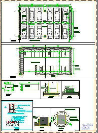 Parking Lot Design DWG Cad Detail