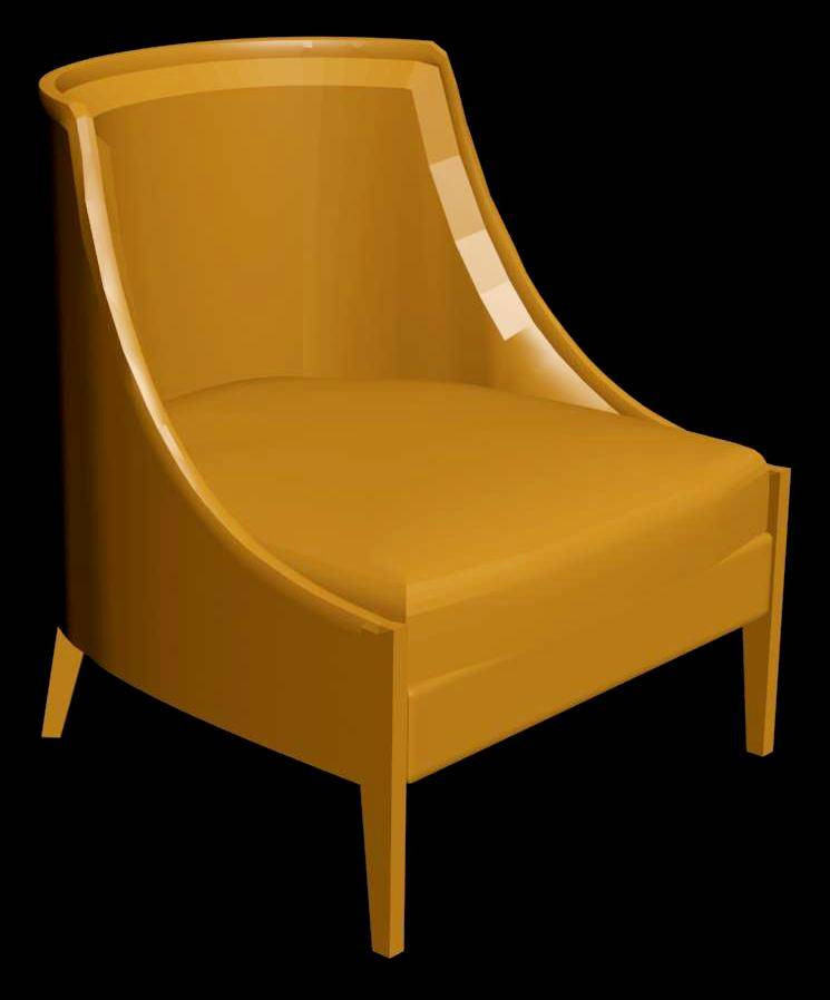 Upholstered Armchair 3d