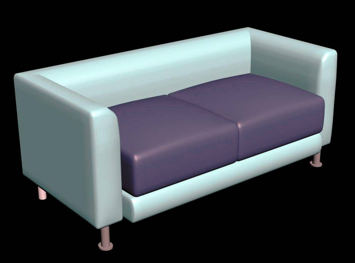 Loveseat  Sofa 3d Model