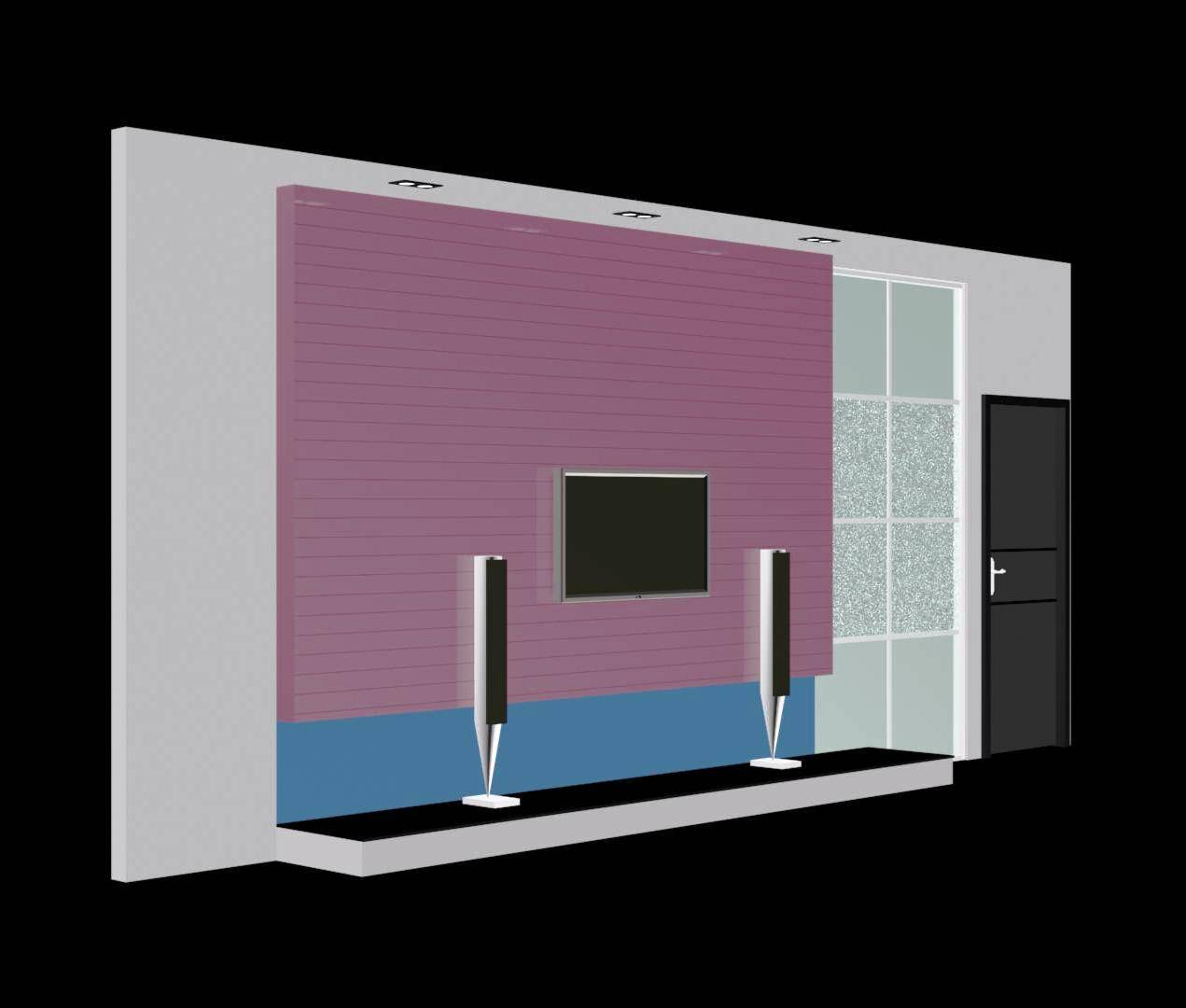 TV Wall Speaker 3d view