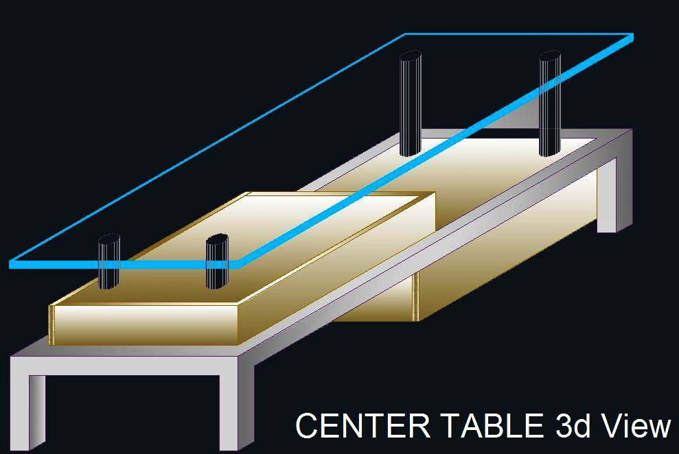 Center table 3d view