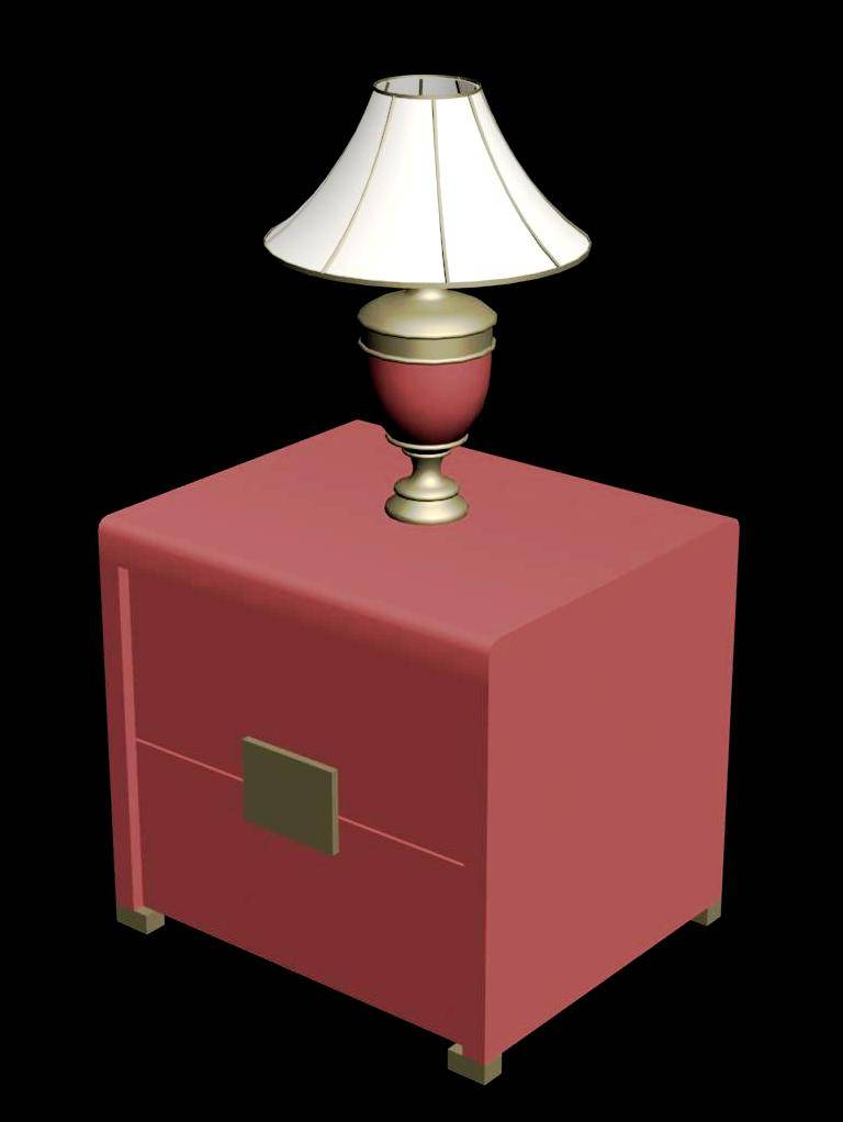 Side Table and Lamp 3d Design