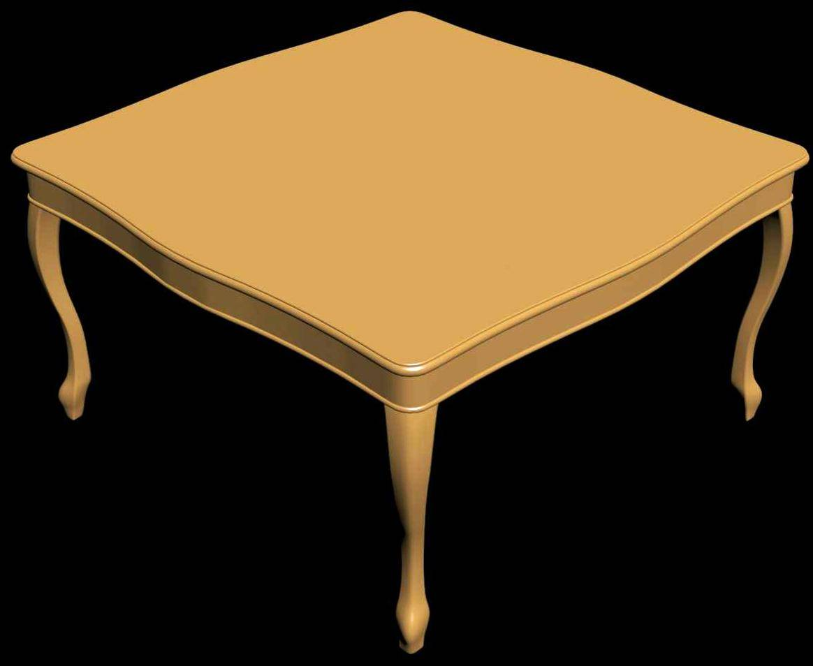 Square Table 3d View
