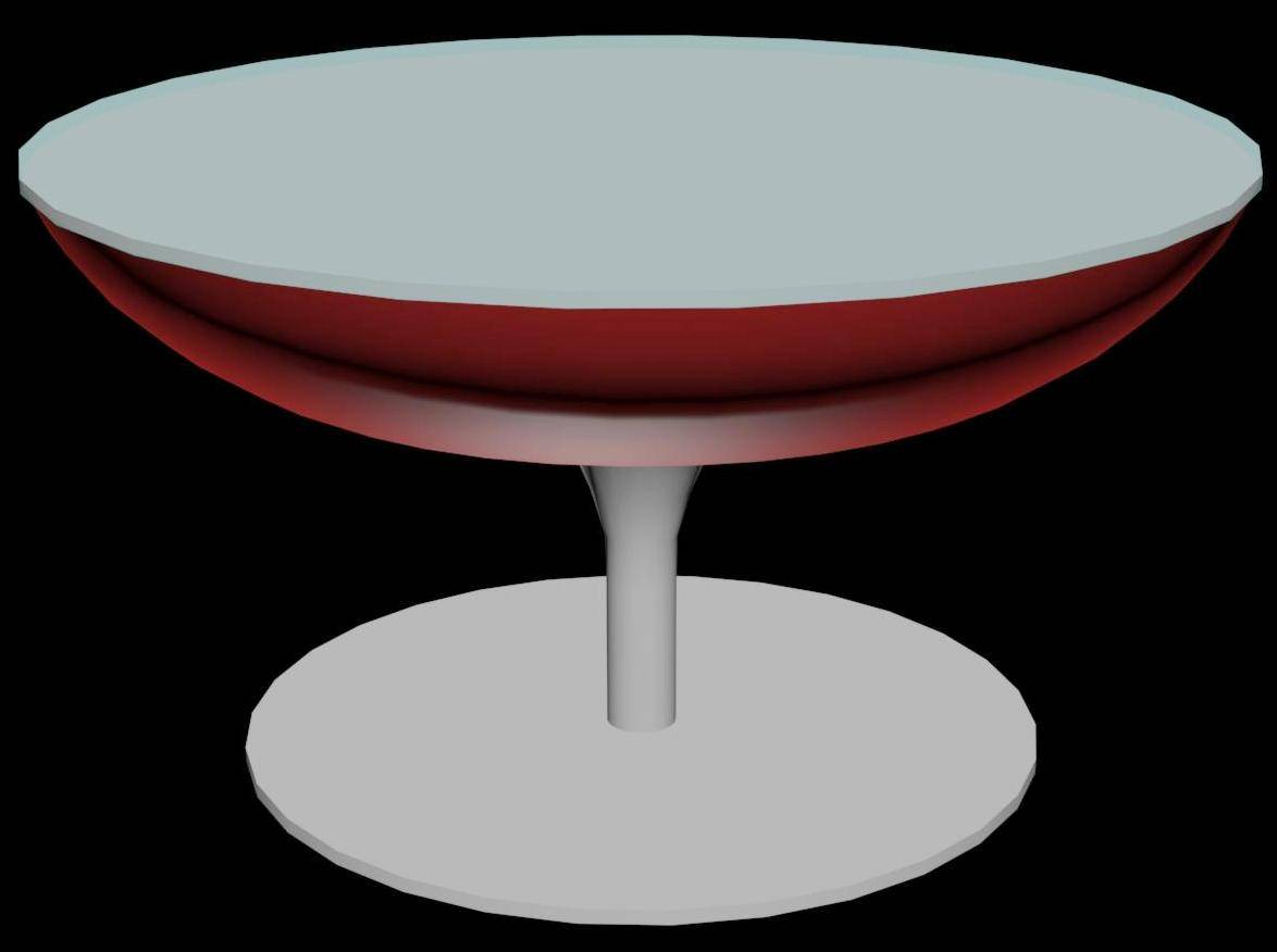 Round Side Table 3d design