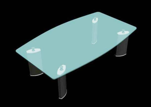 Glass Top Centre Table 3d