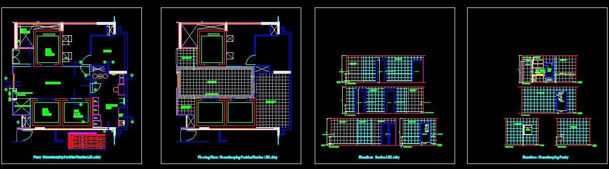 Housekeeping Layout and Elevations