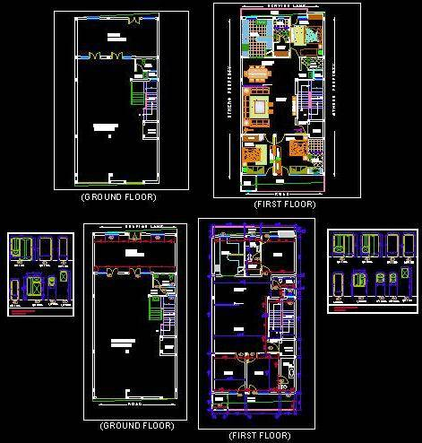 Independent house G+1 layout dwg - Autocad DWG   Plan n Design