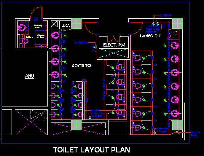 Ladies and Gents Toilet Layout