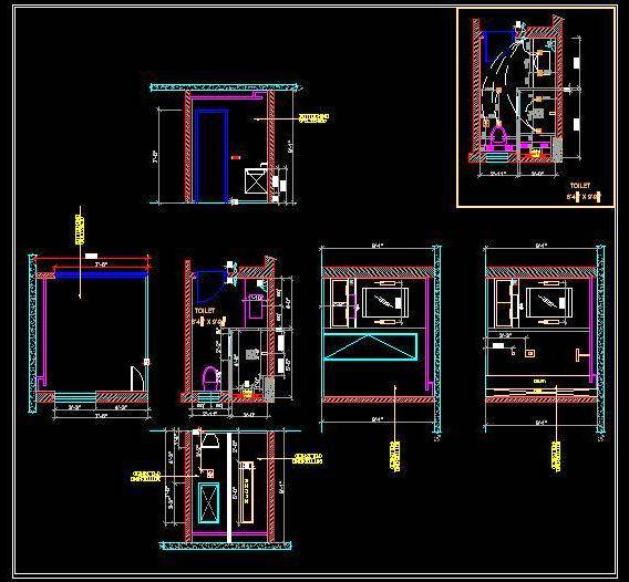 Toilet Design Autocad Dwg Plan N Design
