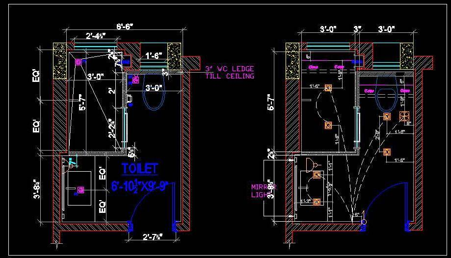 Toilet Layout with RCP