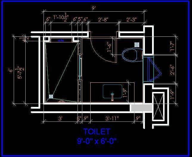 Bathroom and Toilet Layout