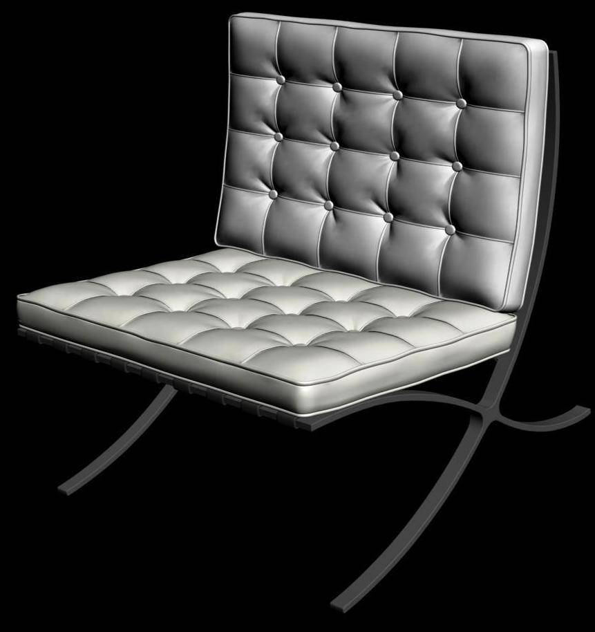 3d design Leather Tufed Accent Chair