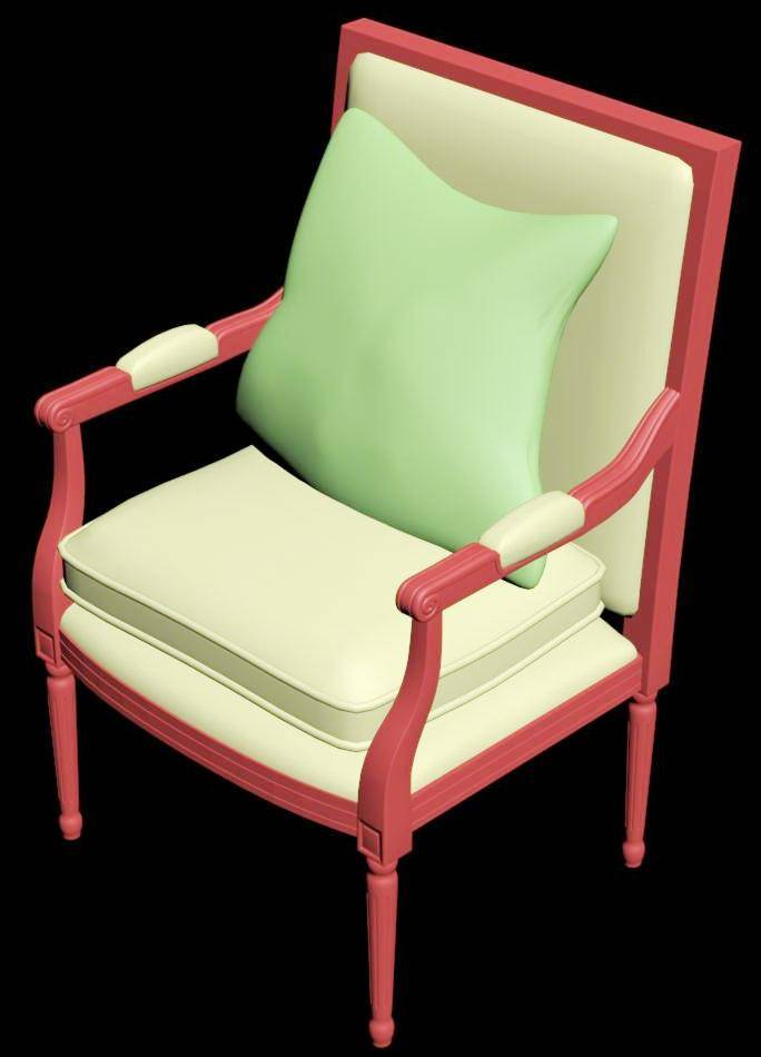 Upholstered Chair 3d Model