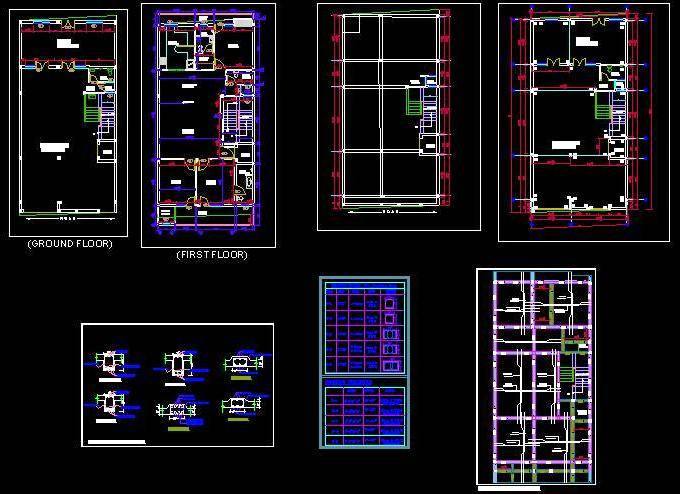 Structure detail of double storey house - Autocad DWG | Plan
