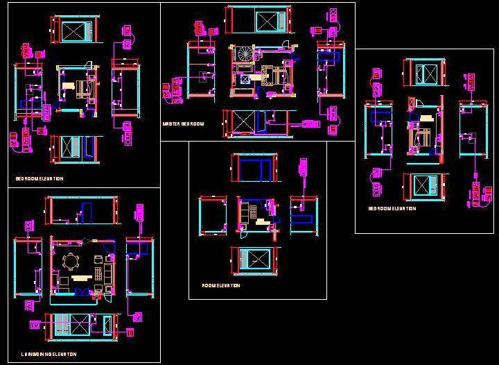 Electrical design of a residence areas
