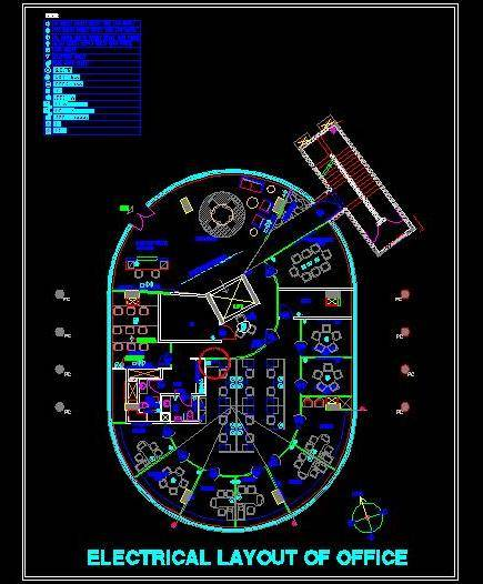 Electrical Design of oval shape office.dwg