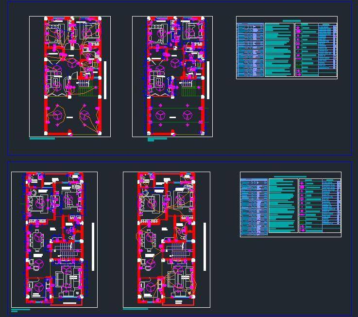 Electrical Layout Of Residence Autocad Dwg Plan N Design