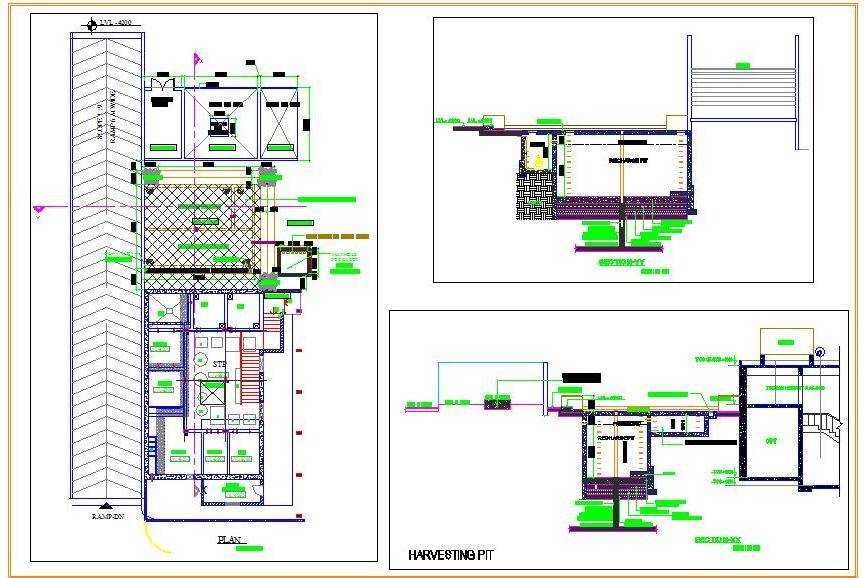 Water Harvesting Pit Design detail - Autocad DWG | Plan n Design