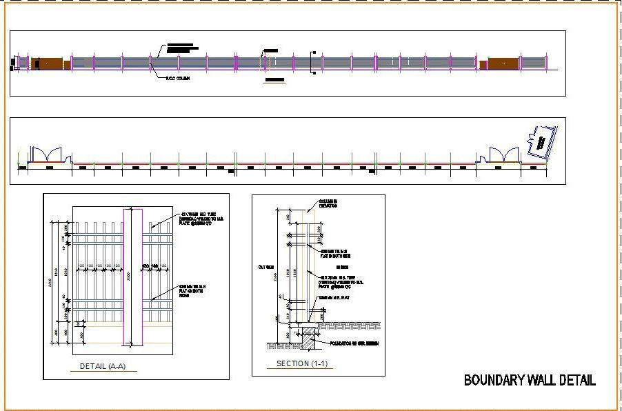 M.S. Boundary Wall Design