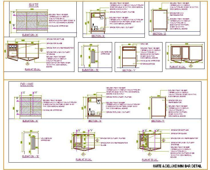 Suite Room Minibar Designs